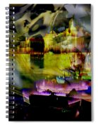 Harbor Scene Through A Vodka Bottle Spiral Notebook