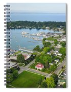 Harbor Springs From Above Spiral Notebook