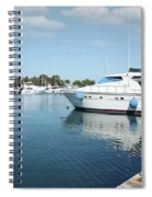 Harbor With Yacht And Boats Spiral Notebook