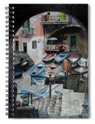 Harbor's Edge In Riomaggiore Spiral Notebook