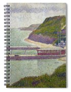 Harbour At Port En Bessin At High Tide Spiral Notebook