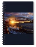 Harbour Bridge Sunset By Kaye Menner Spiral Notebook