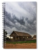 Hard Days - Abandoned Home On West Texas Plains Spiral Notebook