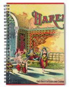 Harem Vintage Fruit Packing Crate Label C. 1920 Spiral Notebook