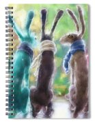 Hares With Scarves Spiral Notebook