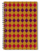 Harlequin Gold Purple Coral Spiral Notebook