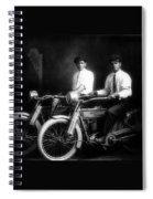 William Harley And Arthur Davidson, 1914 -- The Founders Of Harley Davidson Motorcycles Spiral Notebook