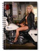 Harley Davidson Motorcycle Babe Spiral Notebook