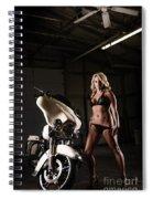 Harley Davidson Motorcycle Bikini  Spiral Notebook