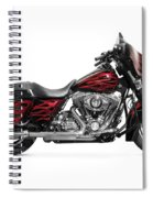 Harley-davidson Street Glide Motorcycle Spiral Notebook