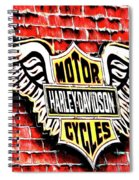 Harley Davidson Wings Spiral Notebook