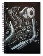 Harley Engine Spiral Notebook