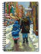 Exceptional Canadian Artist Winter Scene Paintings Downtown Montreal Achetez Scenes De Quebec  Spiral Notebook