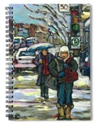 Best Canadian Winter Scene Paintings Original Montreal Art Achetez Scenes De Quebec Cspandau Spiral Notebook