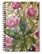 'harmony, Wisdom And Understanding From The Red Clover' Spiral Notebook