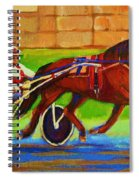 Harness Racing At Bluebonnets Spiral Notebook