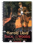 Harold Lloyd In Back To The Woods 1919 Spiral Notebook