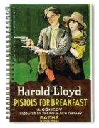 Harold Lloyd In Pistols For Breakfast 1919 Spiral Notebook