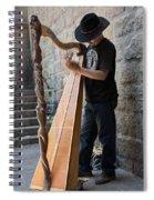 Harpist Street Musician, Barcelona, Spain Spiral Notebook