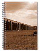 Harringworth Viaduct And Horses Grazing Spiral Notebook