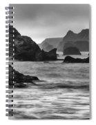 Harris Beach Oregon Monochrome Spiral Notebook
