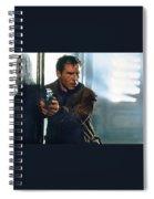 Harrison Ford As Rick Deckard A Blade Runner  In Blade Runner 1982 Spiral Notebook