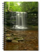 Harrison Wrights Falls In The Forest Spiral Notebook