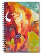 Hartsel Bison In Springtime Spiral Notebook