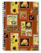 Harvest Market Pumpkins Sunflowers N Red Wagon Spiral Notebook