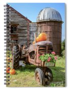 Harvest Time Vintage Farm With Pumpkins Spiral Notebook