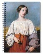 Harvester Holding Her Sickle Spiral Notebook