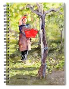 Harvesting Anna's Grapes Spiral Notebook