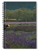 Harvesting The Lavender, Long Island Spiral Notebook
