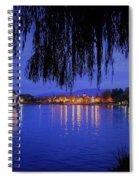 Harveston Lake At Night Spiral Notebook