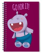 Harvey Hippo Go For It Lt Spiral Notebook