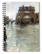 Hassam: Rainy Boston, 1885 Spiral Notebook