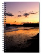 Hastings Harbour Arm At Sunset Spiral Notebook