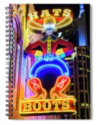 Hats And Boots Spiral Notebook