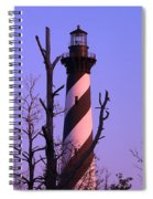 Hatteras Light And Tree Spiral Notebook