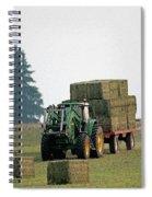Hauling Hay At Dusk Spiral Notebook