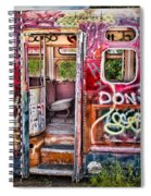 Haunted Graffiti Art Bus Spiral Notebook