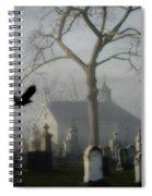 Haunted Halloween Cemetery Spiral Notebook