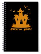 Haunted House Halloween Costume Spiral Notebook