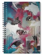 Haunted Voice-blue Red Painting Spiral Notebook