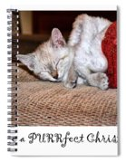 Have A Purrfect Christmas Spiral Notebook