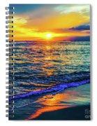 Hawaii Beach Sunset 149 Spiral Notebook