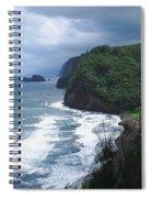 Hawaiian Black Sand Beach Spiral Notebook