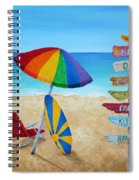 Hawaiian Sign Posts To Paradise Spiral Notebook