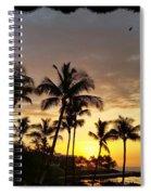 Hawaiian Sunset Design Spiral Notebook