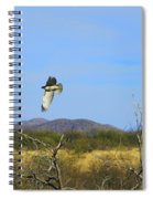 Hawk In Flight Over The Desert Spiral Notebook